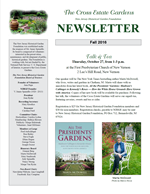 Newsletter cover, Fall 2016